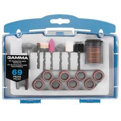 Kit de Acessórios para Micro Retífica com 69 Peças - Gamma