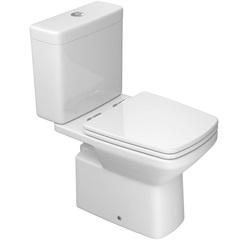 Kit de Bacia E Caixa Acoplada com Acessórios Clean Branco