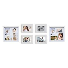 Kit de Paineis E Porta Retratos Vi Branco com 6 Peças - Kapos