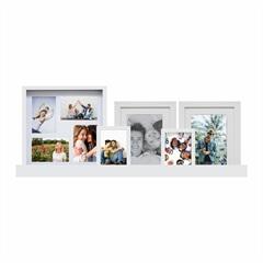 Kit de Painel E Porta Retratos Ix Branco com 6 Peças - Kapos