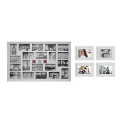 Kit de Painel E Porta Retratos V Branco com 5 Peças - Kapos