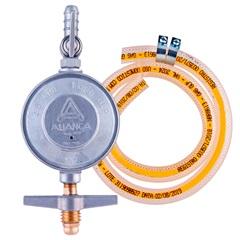Kit de Regulador de Gás com Mangueira de 80cm Cromado - Aliança