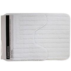 Kit de Tapetes de Banheiro em Microfibra com 2 Peças Branco - Casanova