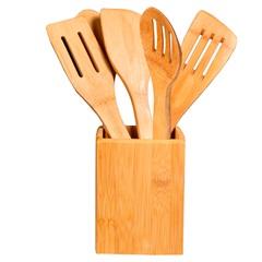 Kit de Utensílios Basic Bamboo com 6 Peças