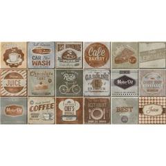 Kit Decorado Borda Reta Acetinado Vintage 30x60cm - Lanzi