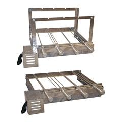 Kit Giratório Baixo em Aço Inox para Churrasqueira 33x62x45cm com 4 Espetos - Santa Edwirges