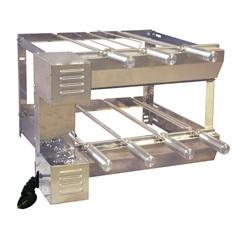 Kit Giratório Duplo em Aço Inox para Churrasqueira 37x58x60cm com 7 Espetos - Santa Edwirges