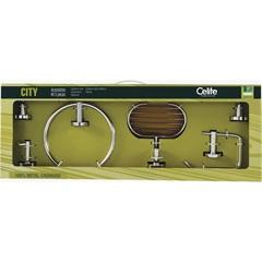 Kit para Banheiro City com 5 Peças - Celite