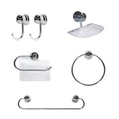 Kit para Banheiro Plus 5 Peças Cromado - Sicmol