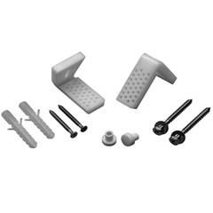 Kit para Fixação de Vaso Sanitário com Suporte em L Cromado E Branco - Roca