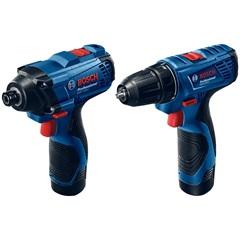 Kit Parafusadeira E Furadeira a Bateria Azul - Bosch