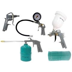 Kit Pistola com Tanque Alto + Acessórios Pneumáticos Verde E Cinza  - Stels