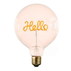 Lâmpada Decorativa para Abajur Hello Luz Amarela - Casanova