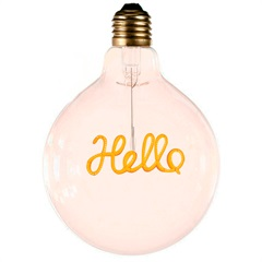 Lâmpada Decorativa para Pendente Hello Luz Amarela - Casanova