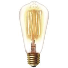 Lâmpada Incandescente com Filamento de Carbono St64 40w 110v 2200k Luz Amarela