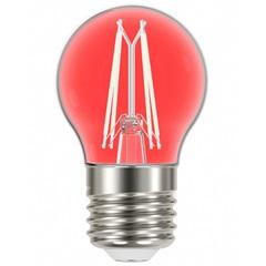 Lâmpada Led com Filamento Color Bolinha G45 4w Autovolt Luz Vermelha - Taschibra
