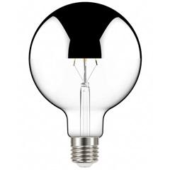 Lâmpada Led com Filamento Defletora Espelhada Globo G125 5w Autovolt Luz Quente - Taschibra