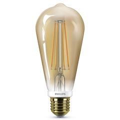 Lâmpada Led com Filamento Dimerizável 7w 220v Luz Amarela - Philips