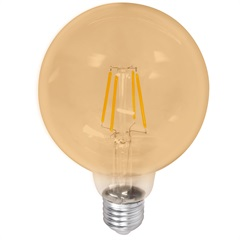 Lâmpada Led G125 com Filamento 4w Bivolt 2400k Luz Amarela