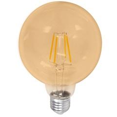 Lâmpada Led G125 com Filamento 4w Bivolt 2400k Luz Amarela - Casanova