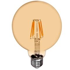 Lâmpada Led G125 com Filamento 6w Bivolt 2400k Luz Amarela