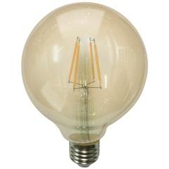 Lâmpada Led G95 com Filamento 6w Bivolt 2400k Luz Amarela - Casanova