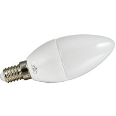 Lâmpada Led Vela Lisa Leitosa 3w Bivolt 2700k com Soquete E14 Luz Amarela - Brilia