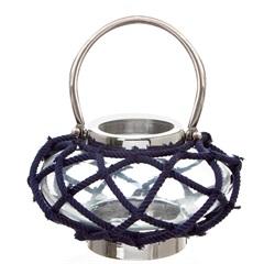 Lanterna Cotton 22cm Azul - Casa Etna