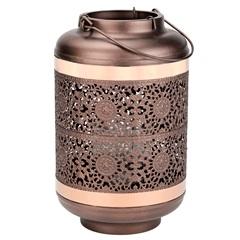 Lanterna em Metal Decor 16x26cm Cobre - Casanova