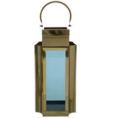 Lanterna em Metal Jacarta 54x23cm Dourada - Casa Etna