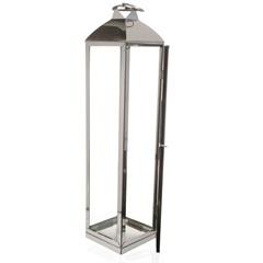 Lanterna em Metal Malang 60x13cm Prata - Casa Etna