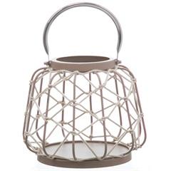 Lanterna em Metal Palu com Corda 23x20cm - Casa Etna