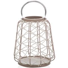 Lanterna em Metal Palu com Corda 31x26cm - Casa Etna