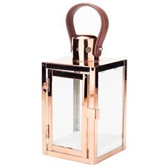 Lanterna Quadrada em Metal Decor 11x22cm Cobre - Casanova