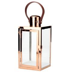 Lanterna Quadrada em Metal Decor 14x30cm Cobre - Casanova
