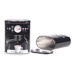 Lata para Café Máquina 3d 16,9x10cm Preta - Bela Távola