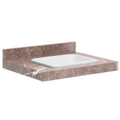 Lavatório para Banheiro com Cuba Embutida Max 60 22x60cm Trufa - Bumi Móveis