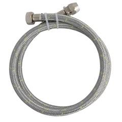 Ligação Flexível em Inox para Gás 1/2'' com Adaptador 3/8'' com 1,20 Metro - Blukit
