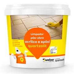 Limpador para Pós Obra Rejunte Acrílico E Epóx 1 Litro - Quartzolit