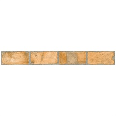 Listelo Borda Reta Acetinado Brick Hd Laranja 11x87,7cm  - Portinari