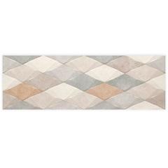 Listelo Borda Reta Acetinado Color Cement Hd Decorado Mix 29,1x87,7cm - Portinari