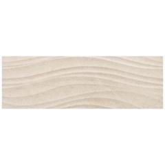 Listelo Borda Reta Acetinado Studio Limestone Hd Bege 29,1x87,7cm - Portinari