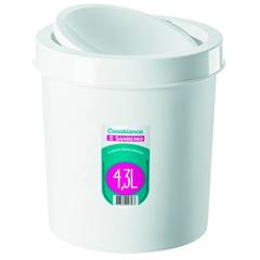 Lixeira Basculante de Plástico 4,3 Litros Branca - Sanremo