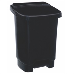 Lixeira com Pedal 35 Litros E Fixador para Saco de Lixo Preta - Plásticos Santana