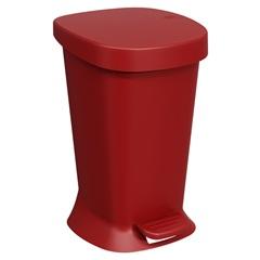 Lixeira com Pedal Square 5 Litros Vermelho Bold - Coza