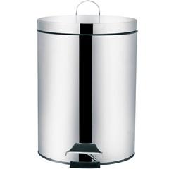 Lixeira em Inox Ágata 5 Litros Cinza - MOR