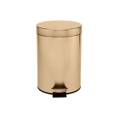 Lixeira em Inox com Pedal 20 Litros Dourada - Casanova