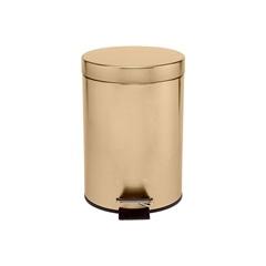 Lixeira em Inox com Pedal 3 Litros Dourada - Casanova