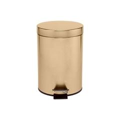 Lixeira em Inox com Pedal 5 Litros Dourada - Casanova