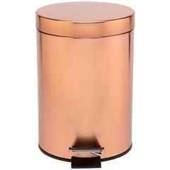 Lixeira em Inox com Pedal 5 Litros Rose Gold - Casanova